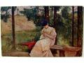 Kobieta na ławeczce