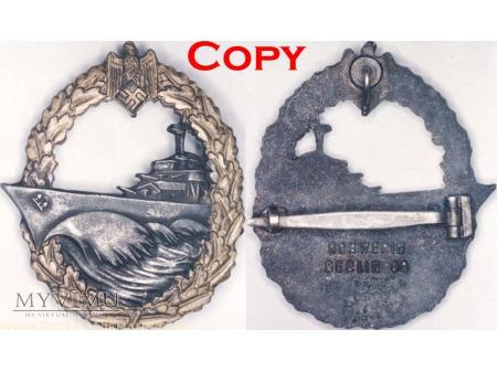 Duże zdjęcie Odznaka dla Załóg Niszczycieli, Destroyer Badge