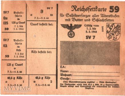 Reichsfleischkarte 59 1944