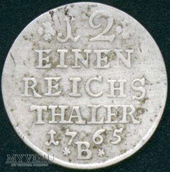 Fryderyk II Wielki 1740-1786-12 część talara 1765B