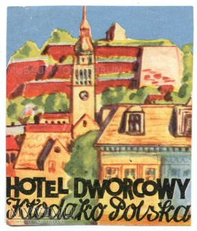 Nalepka hotelowa - Kłodzko - Hotel Dworcowy