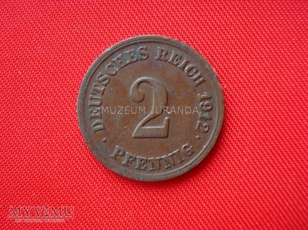 2 pfennig 1912 rok