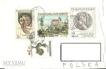 Koperta ze znaczkami