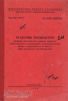 Weryfikacja remontu BRDM-2. Instrukcja z 1982 r.
