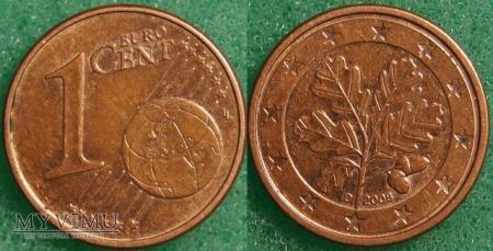 1 EURO CENT 2008 D
