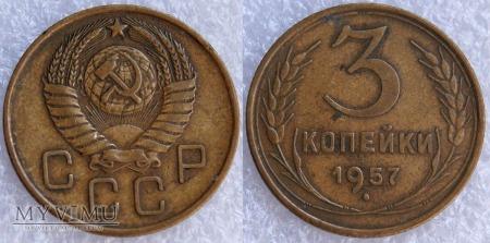 Duże zdjęcie ZSRR, 3 kopeks (Kopeyki) 1957