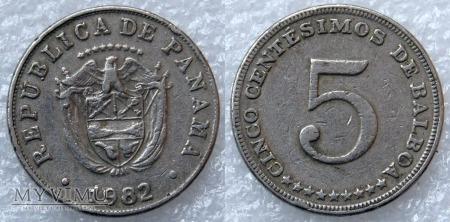 Panama, 5 CENTESIMOS 1982