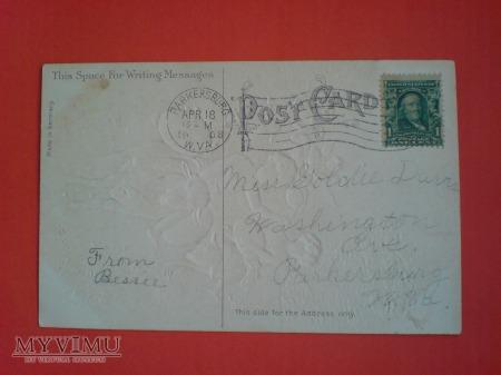 1908 Wielkanoc USA Cherubinki, Baranki, Pisanki