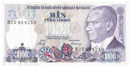 Duże zdjęcie Turcja - 1 000 lir (1988)