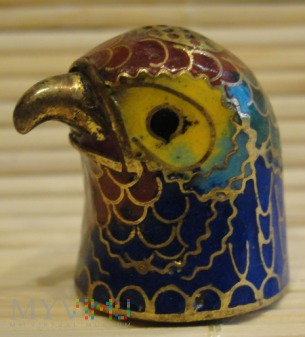 naparstek - głowa ptaka