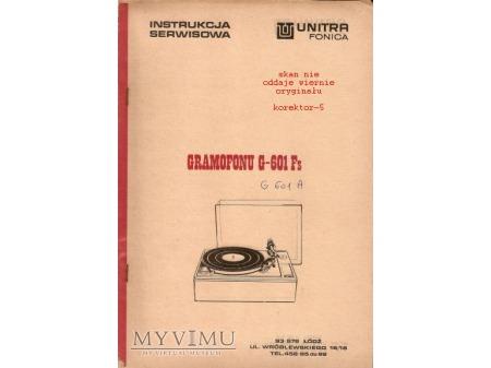 Instrukcja serwisowa gramofonu G-601Fs