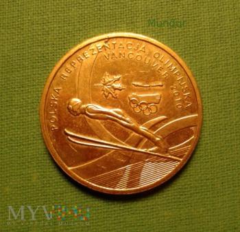 Moneta: 2 złote - Olimpiada Vancouver 2010