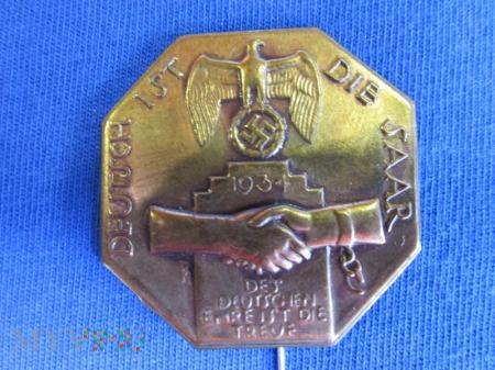 Zagłębie Saary-odznaka propagandowa WHW