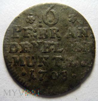 6 pfennig 1708 Brandenburgia