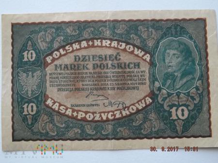 Dziesięć Marek Polskich - 1919r.