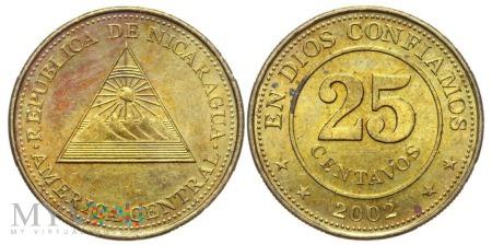 Nikaragua, 25 centów 2002