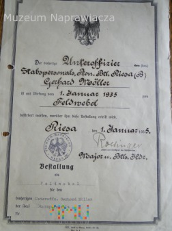 Awans sapera Reichswehry na feldfebla