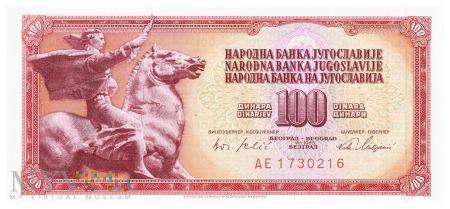 Jugosławia - 100 dinarów (1965)