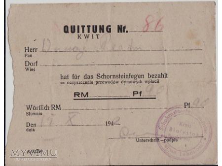 Pokwitowanie z 1942.