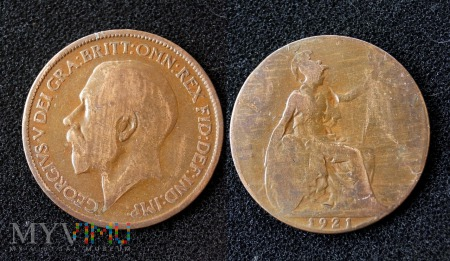 Wielka Brytania, half penny 1921