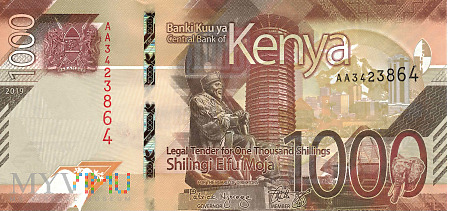 Duże zdjęcie Kenia - 1 000 szylingów (2019)