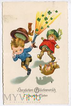 Serdeczne pozdrowienia z Nowym Rokiem - 1927