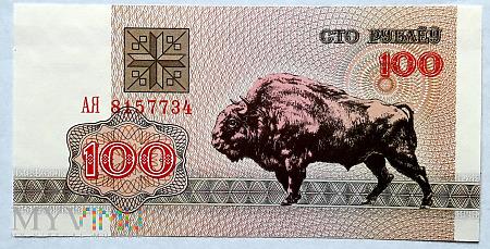 Białoruś 100 rubli 1992