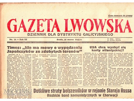 Gazeta Lwowska (31 III 1943)