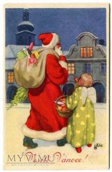 Święty Mikołaj i Anioł Santa Claus Czechy USAK