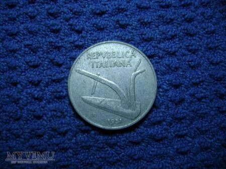 Włochy 10 lirów 1951