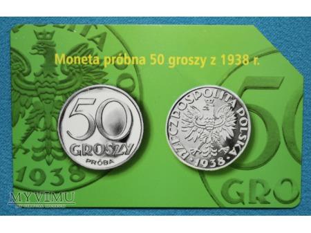Moneta Próbna 50 gr z 1938 r.