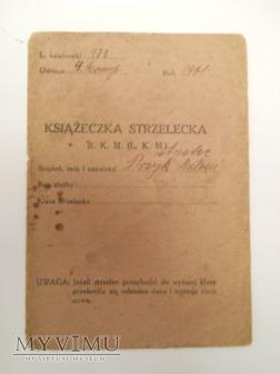 Książeczka strzelania R.K.M. oraz L.K.M. 59p.p.