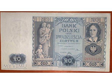 20 złotych z 1936 r.