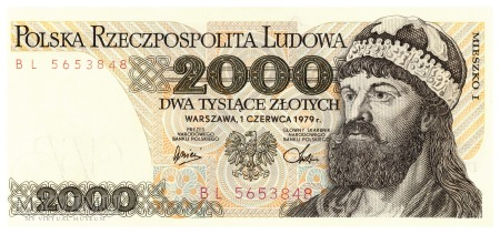 Polska - 2 000 złotych (1979)