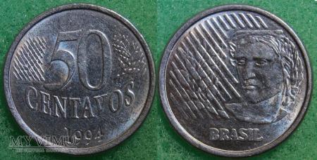 Brazylia, 50 centavos 1994