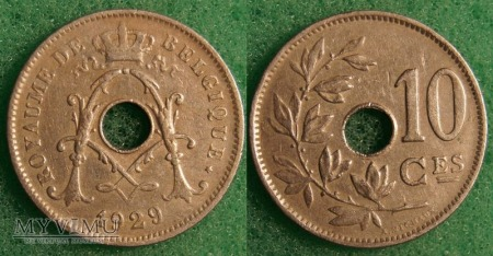 Belgia, 1929, 10 centimes