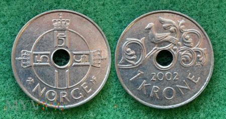 Norwegia, 1 Krone 2002