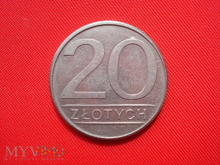 20 złotych 1985 rok