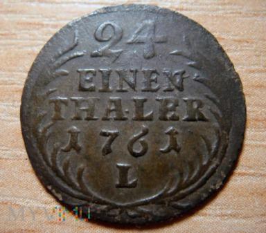 AUGUST III SAS 24 EINEN THALER 1761 L LIPSK