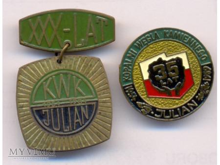 KWK Julian - odznaki