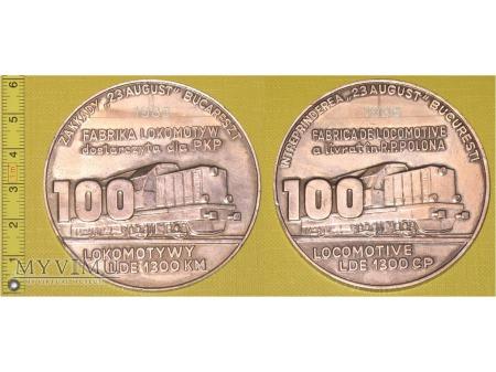 Medal kolejowy - firmowy 100-tnej lokomotywy