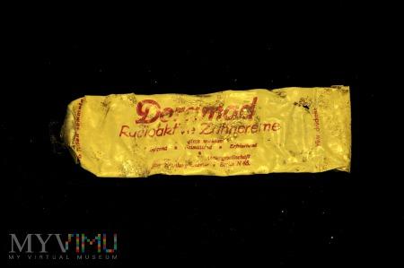 Radioaktywna pasta do zębów Doramad