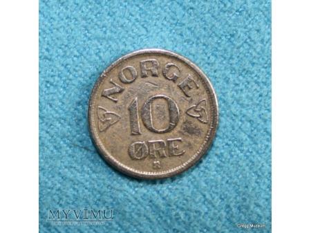 10 øre-Norwegia 1953