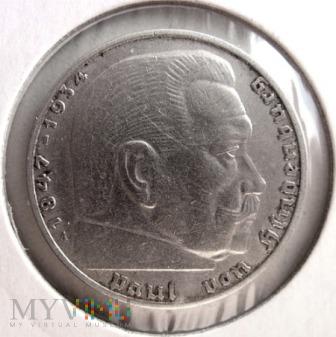 Duże zdjęcie 2 reichsmarki 1937 r. Niemcy (Trzecia Rzesza)