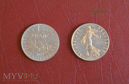Moneta francuska: 1/2 franc