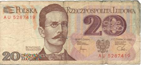 POLSKA PRL 20 ZŁOTYCH 1982