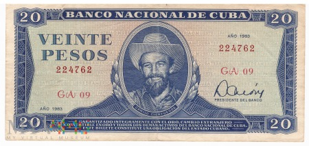 Kuba - 20 pesos (1983)
