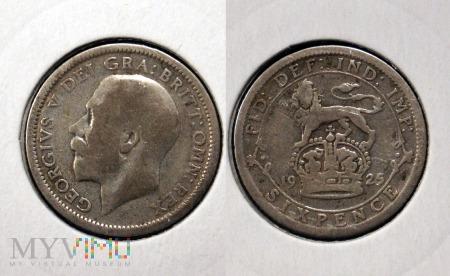 Wielka Brytania, SIX PENCE 1925
