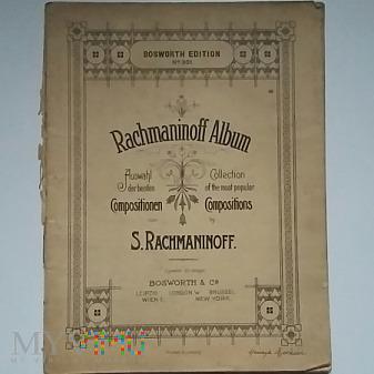 Album z nutami S. Rachmaninow 1896