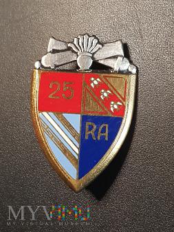 Pamiątkowa odznaka 25 Pułku Artylerii - Francja